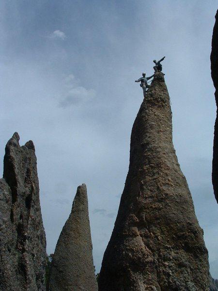 Rock Climbing Photo: Dean Allison and I on top a famous Needles climb i...