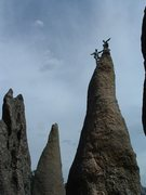 Rock Climbing Photo: Dean Allison and I on top a famous Needles climb i...