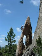 Rock Climbing Photo: Lucky for me it was my turn to lead. Needles area ...