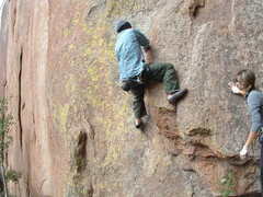 Rock Climbing Photo: starting up another great climb in Vedauwoo