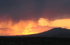 "Rock Climbing Photo: Here we see the ""virga"" rainfall common ..."