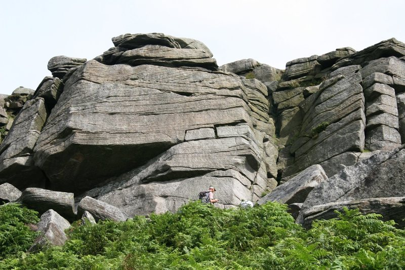Overhang Buttress, Burbage North