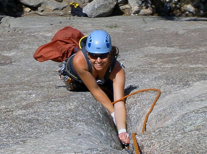 Rock Climbing Photo: happy girl