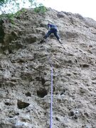 Rock Climbing Photo: Resting before the slightly overhung mid section.