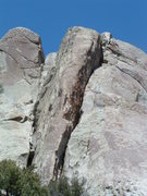 Rock Climbing Photo: good look at Red Rib, the obvious red arete in the...