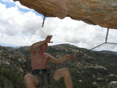 Rock Climbing Photo: Old dog.....same trick...  Snapped by Vince as he ...