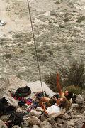 Rock Climbing Photo: Greg and Tai flying kites.