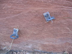 Rock Climbing Photo: Any one remember placing these?  Relics from days ...