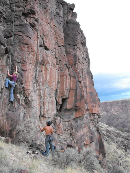 Rock Climbing Photo: 5.6 on the lower level! Two great routes just righ...
