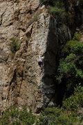 Rock Climbing Photo: Rob Chaney climbs Economique, at Wheeler Gorge.