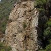 Rob Chaney climbs Economique, at Wheeler Gorge.