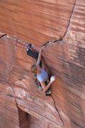 Rock Climbing Photo: Deanna getting ready to fire the crux! Armando Lee...