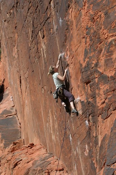 Rock Climbing Photo: Deanna sending!