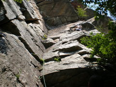 Rock Climbing Photo: Te Dum Mid of First Pitch