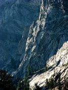 Rock Climbing Photo: No Escape Buttress.  The first 4 pitches follow th...