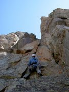 Rock Climbing Photo: The start of pitch 6.