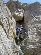 Rock Climbing Photo: The very cool chockstone tunnel
