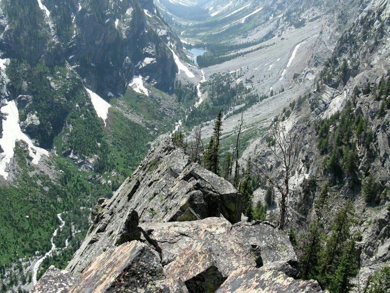 Rock Climbing Photo: The exposed ridge finish