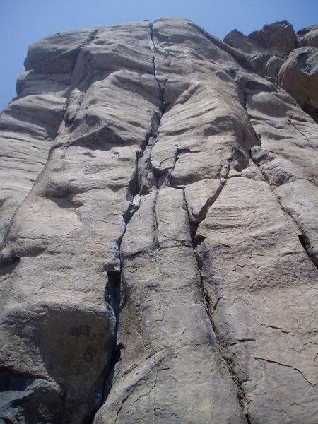Rock Climbing Photo: Looking straight up Bone Crusher.
