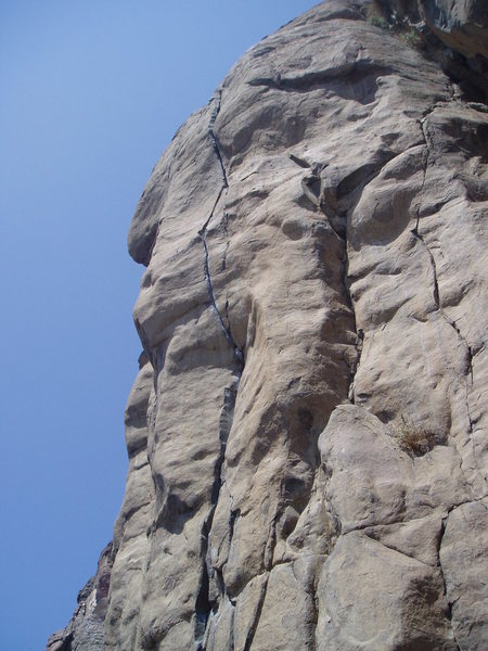 Sort of a side view of the top of Bone Crusher.