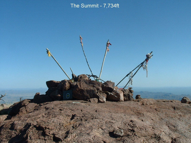 The summit as of 2004....