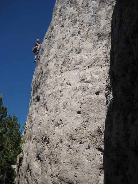 Rock Climbing Photo: Though the crux and into pocket heaven...