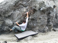 Rock Climbing Photo: Bouldering on the beach.