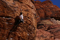 Rock Climbing Photo: Eli doing a great job onsighting what is a fun rou...