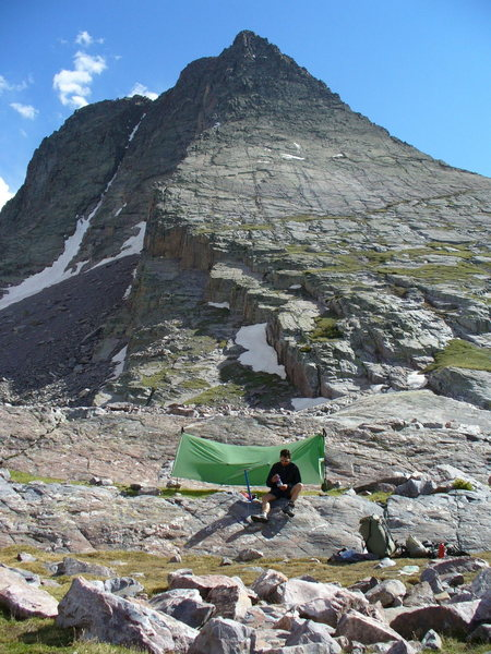 Rock Climbing Photo: Camped below the Vestal