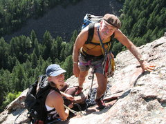 Rock Climbing Photo: Standard Route on the 3rd Flatiron with John Auld....