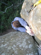 Rock Climbing Photo: last crux.