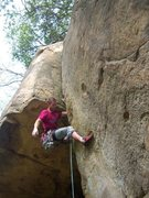 Rock Climbing Photo: Andy Patterson on an early attempt of Gap Crack.