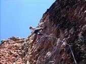Rock Climbing Photo: Balls to the Wall (El Rito Sport Route)