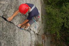 Rock Climbing Photo: Easier fun climbing above.