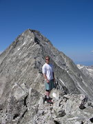 Rock Climbing Photo: Summit of K2.  The Capitol knife ridge is in the b...