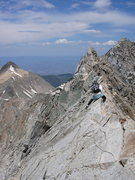 Rock Climbing Photo: Austin Porzak on the knife ridge of Capitol
