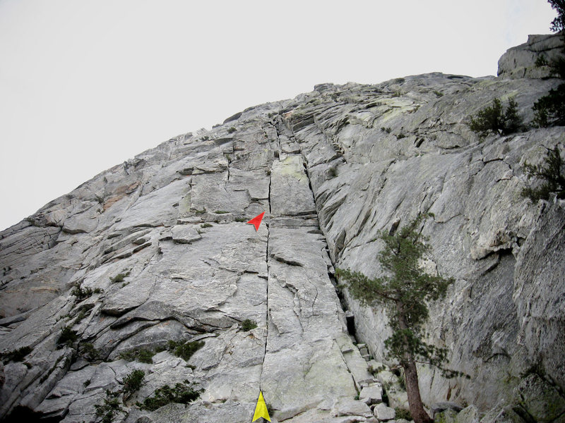 Rock Climbing Photo: The highly recommended (**) start for The Long Cli...