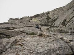 Rock Climbing Photo: Tamara running through the Wong Climbs money p1.