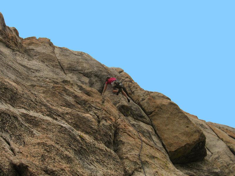 """Rock Climbing Photo: Tamara moving through the infamous """"Step Arou..."""