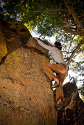 Rock Climbing Photo: The end of the line, of course he had to top out o...
