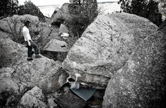 Rock Climbing Photo: In the boulders at the bottom of the Five and Dime...