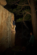 Rock Climbing Photo: Working the Slabmaster's main problem on a perfect...