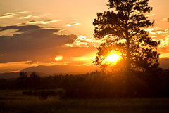 Rock Climbing Photo: Summertime sunset over Castlewood Canyon. Photo ta...