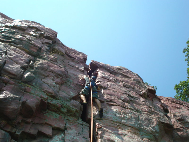 Rock Climbing Photo: 3/4 of the way up.