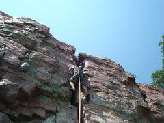 Rock Climbing Photo: 3/4 of the way up.