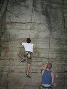 Rock Climbing Photo: Working through the initial moves. You can see Lau...