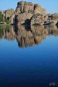 Rock Climbing Photo: Smooth Lake with no boats.
