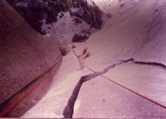 Rock Climbing Photo: Greg Hand following the Astroman Changing Dihedral...