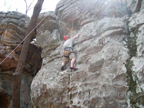 Rock Climbing Photo: One of my first climbs