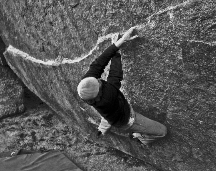 Rock Climbing Photo: Brendan Quinn 'bout to crux
